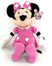 "Licensed DISNEY  Clubhouse MINNIE MOUSE Soft PLUSH DOLL Toy 15"" PINK Gre... - $13.99"