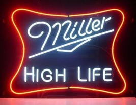 "New Miller High Life Beer Lager Bar Man Cave Neon Sign 20""x16"" - $123.00"