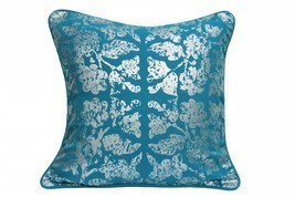 Foil Print Blue Cushion Cover pillow case - $485,16 MXN