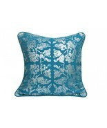Foil Print Blue Cushion Cover pillow case - £18.02 GBP