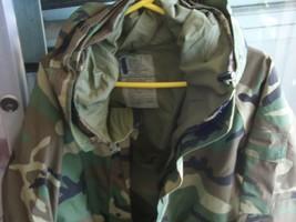 100% Auth Us Army Parka Jacket Camo Gore Tex SP0100-00-D-4021 Sz L - $95.00