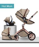 Hot mom stroller ISOFIX interface car seat luxury 3 in1 baby stroller 87... - $588.99+