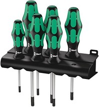Wera 05028062001 Kraftform Plus 367/6 Torx Screwdriver Set and Rack, 6-Piece