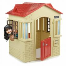 Cape Cottage Playhouse Outdoor Backyard Kids Fun Playroom Pretend Play H... - $259.00