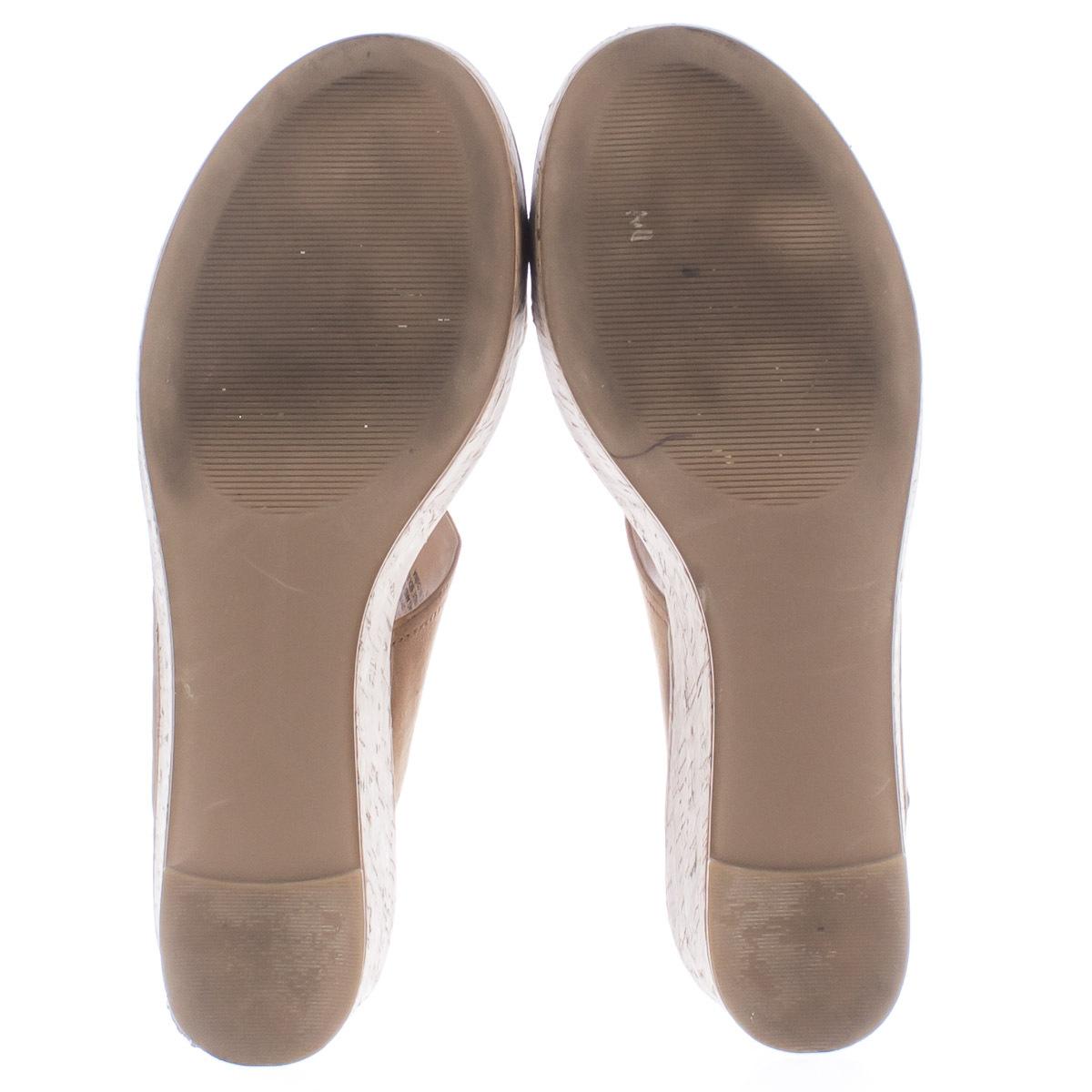 Steve Madden Caytln Platform Wedge Slingback Sandals, Cognac, 10 US Used