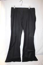 DANA BUCHMAN Olive Green Cotton Blend Flare Dress Pants Womens Size 10-B28 - $34.99