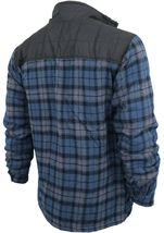 Men's Heavyweight Flannel Zip Up Fleece Lined Plaid Sherpa Hoodie Jacket image 14