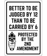 "DUE TO RISING COST OF AMMO NO WARNING SHOT 12/"" X 18/"" ALUM SIGN 2ND AMENDMENT 9MM"