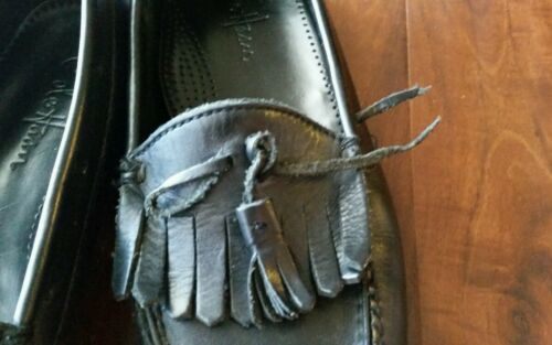 Cole Haan Uomo Nero pelle Lavoro Passeggio Nappa Mocassini da Infilare Scarpe