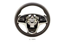 NEW GM OEM CADILLAC ATS 2013-2019 BLACK LEATHER STEERING WHEEL ATS-V V 2... - $173.25