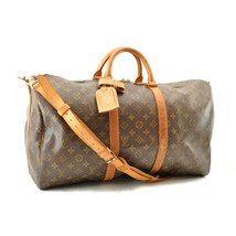 LOUIS VUITTON Monogram Keepall Bandouliere 50 Old Model Boston Bag LV Au... - $520.00