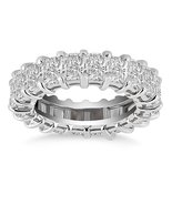 Exquisite 14k White Gold Emerald Cut Diamond Eternity Ring - $17,212.27+