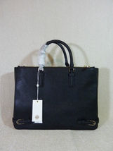NWT Tory Burch Black Saffiano Leather Large Robinson Multi Tote - $595 image 7