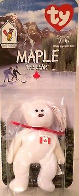 TY TEENIE BEANIE BABIES 1997 RONALD MCDONALD HOUSE CHARITIES ~MAPLE THE BEAR~