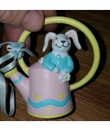 """VANTAGE AVON EASTER ORNAMENT BUSY BUNNY RABBIT """" WATERING  CAN ' - $11.30"""