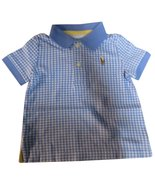 Polo Ralph Lauren Infant Boys Short Sleeve Gingham Shirt Nantucket Blue ... - $39.11