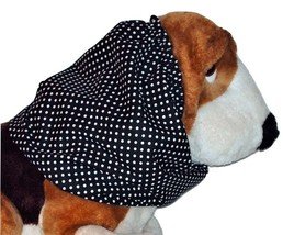 Black White Polka Dots Cotton Dog Snood by Howlin Hounds Size Large - $12.50