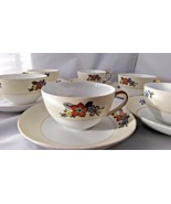Meito China - Flower Pattern - 6 Cups and 6 Saucers - Vintage - $39.99