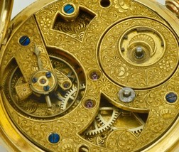 Museum antique Tixier calibre Chinese Duplex SOLID 18K GOLD&ENAMEL pocke... - $38,500.00