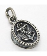 SILVER 925 PENDANT, BURNISHED AND SATIN, MEDAL WITH AGAIN AND FRAME - $56.57