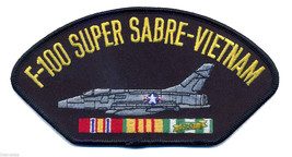 F-100 SUPER SABRE  VIETNAM VETERAN  EMBROIDERED SERVICE RIBBON MILITARY ... - $17.14