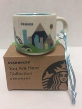 Starbucks Denver Ornament You Are Here Mini Mug Colorado Mountains Mile ... - $32.71