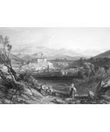 ITALY Isola di Sora - 1864 Fine Quality Print Engraving - $49.50