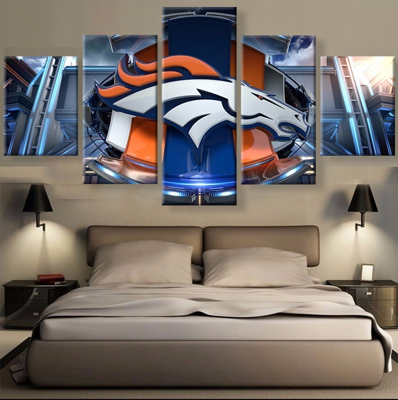 5 Panel Denver Broncos Sports Team Printed Canvas