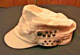Women rhinestone ballcap Stud Hat Beiges  - $3.13
