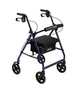 Drive Medical Aluminum Rollator With Folding Back Support Red - $93.60