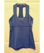 Lululemon Mesh Racerback Workout Athletic Body Con Tank Top, Size L blue - $19.09