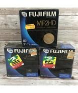 "Lot of 3 FUJIFILM MD2HD Box of 10 High Density 5 1/4"" Floppy Disks - $34.60"