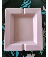 Pink MCM Vintage Ceramic Ashtray 7 x 6 Tobacco Smoking Home Decor Accessory - $17.50