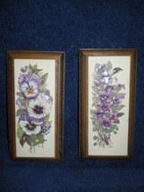 3-D Purple Pansy Wooden Plaque Set - $6.99