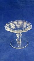 Elegant Fostoria Glass Company Crystal Baroque Compote Lido Etch  c.1937 - $24.75