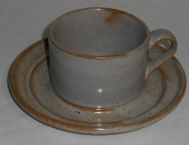 Dansk Sand Color Nielstone Pattern Cup And Saucer - $9.89
