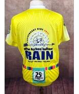 Peak 1 Ride Across Indiana RAIN Yellow Cycling Bike Jersey Shirt Men's XXL - $26.31