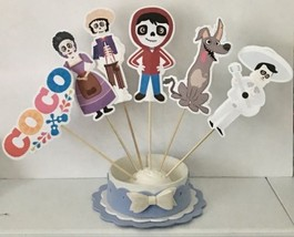 """Coco Party Set Of 6 Centerpiece Picks SINGLE SIDED 6"""" Height Cake Topper - ₨1,018.17 INR"""