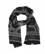 Versace Collection Black & Grey Mens Scarf ISC40R1WIT02855I4019 - $125.00