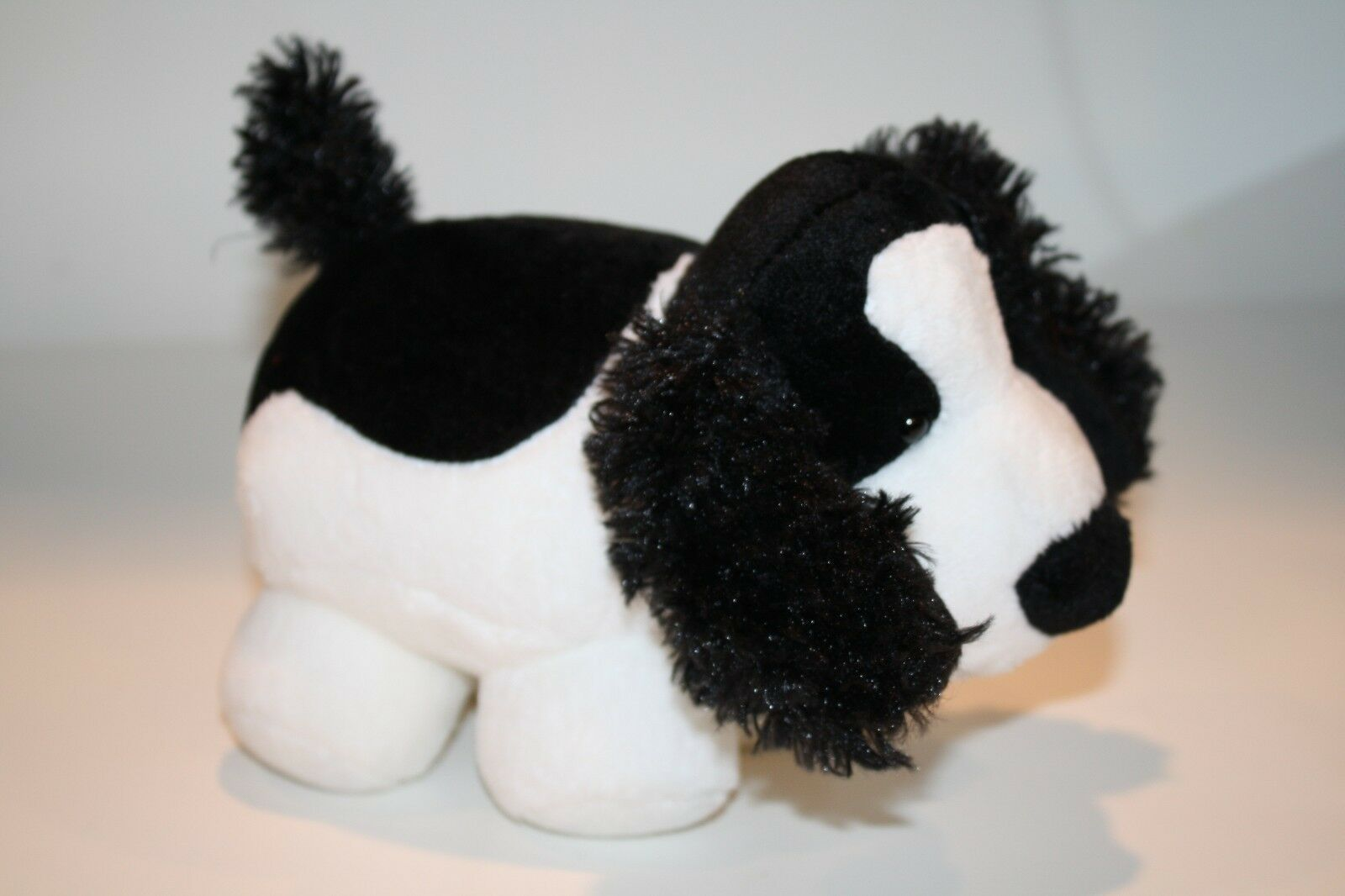"Primary image for Russ DOG 8"" PUDGEES COCKER Spaniel Plush Stuffed Soft Toy Fat Puppy Black White"