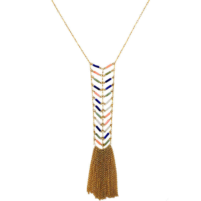 Metal Tassel Necklaces & Pendants From Indian Vintage-Accessories Women