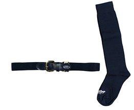 Rawlings BELTSOCKS-NVY Baseball Belt & Sock Combo (Youth Small/Navy) - $11.64