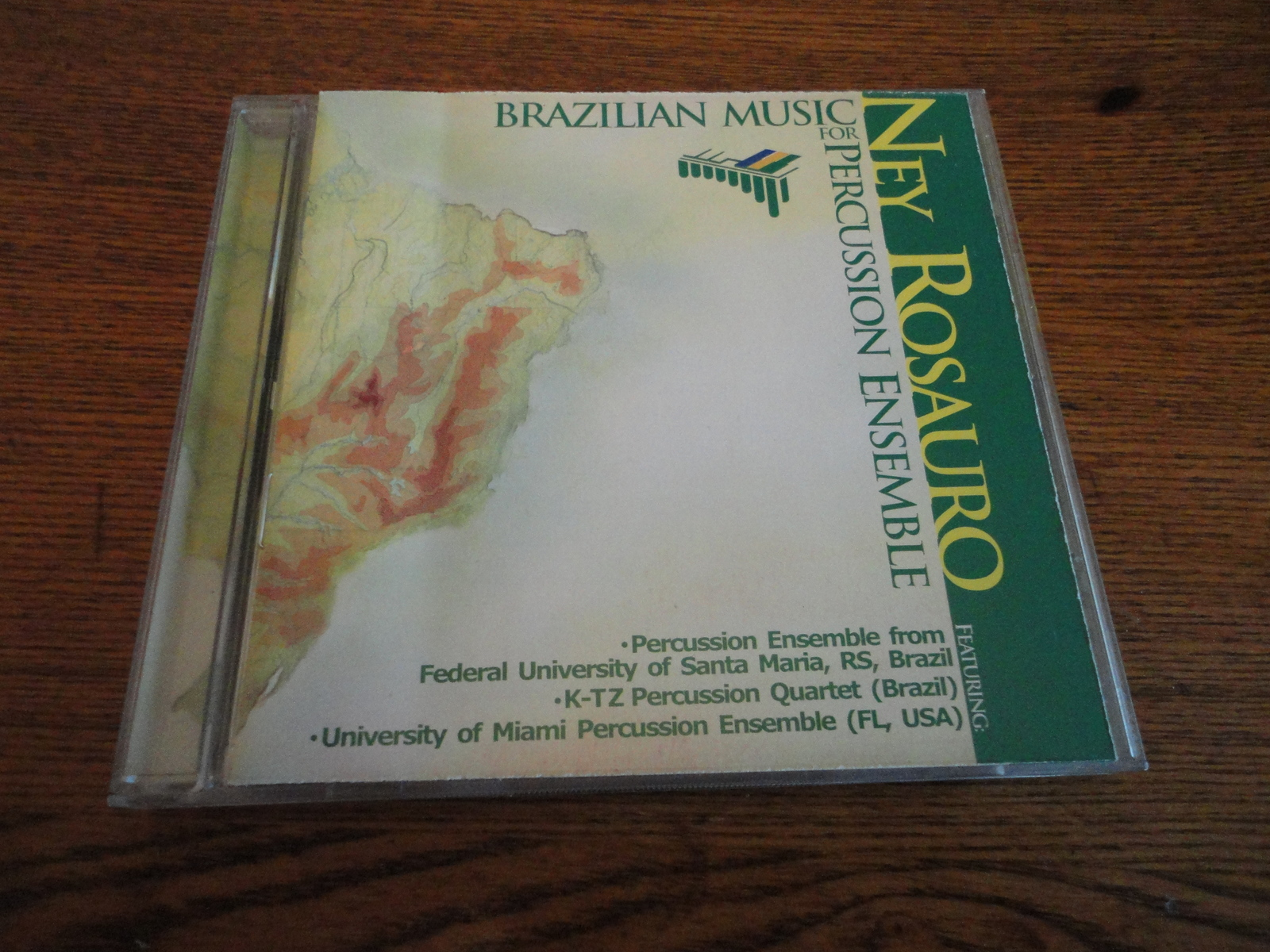 CD Ney Rosauro 'Brazilian Music For Percussion Ensemble' 2000 rare OOP