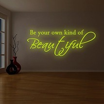 """( 87"""" x 36"""" ) Glowing Vinyl Wall Decal Quote Be Your Own Kind of Beautiful / Glo - $211.70"""