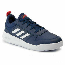 Adidas Kids Navy/White/Red Tensaur K Youth Court Tennis Shoes Size 1K NWT image 3