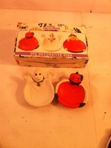 SET OF 2 MINI HALLOWEEN DECORATIVE DISHES--GHOST / PUMPKIN----FREE SHIP-... - $8.38