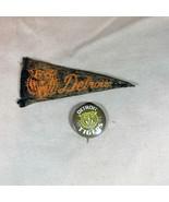 Detroit Tigers ca 1950's Mini Felt Pennant and Pinback - $21.49