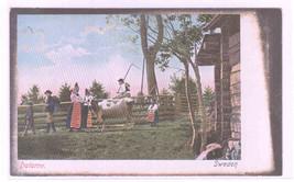 Farm Family Dalarne Sweden 1907c postcard - $5.45
