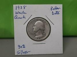 1938 Washington Quarter Better Date - $7.92