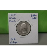 1938 Washington Quarter Better Date - $7.92